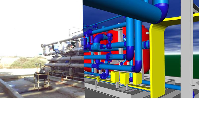 Rilievo di tubazioni (piping) e realizzazione studio di rilievo in 3D