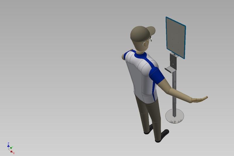 render progetto porta dispenser