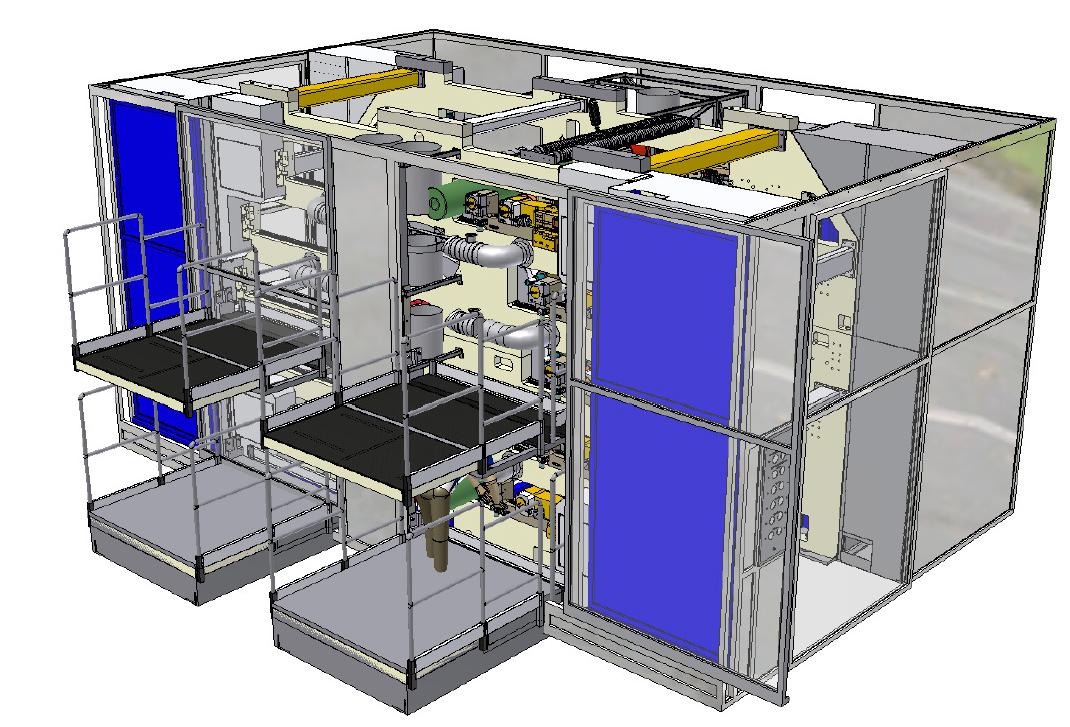Render progetto protezione macchine automatiche
