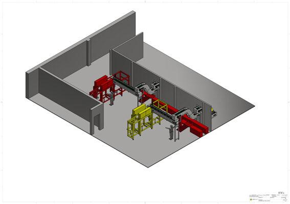 render progettazione nastro trasportatore in termoplastico