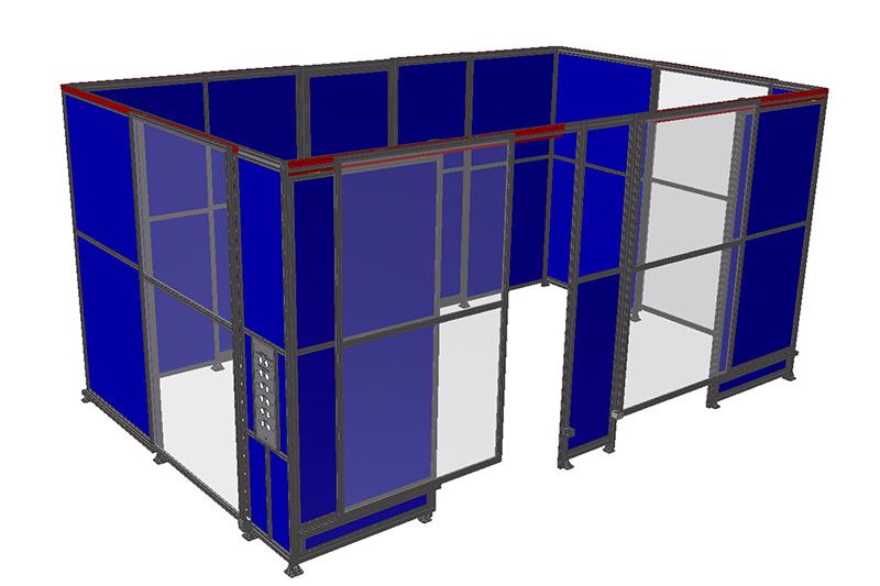 Rendering progettazione protezioni perimetrali